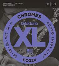 D'Addario ECG24 Chromes Flat Wound 11-50 Electric Guitar Strings