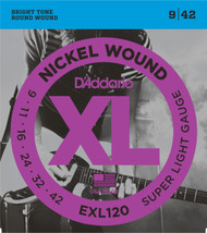 D'Addario EXL120 Nickel Super Light 9-42 Electric Guitar Strings
