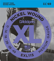 D'Addario EXL115 Nickel Medium 11-49 Electric Guitar Strings