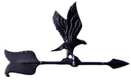 "24"" Eagle Accent Weathervane - Black"