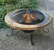"34"" Slate Firepit w/ Copper Accents"