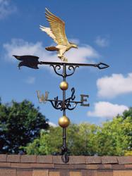 "46"" Eagle Weathervane - Gold-Bronze"