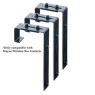 Mayne Adjustable Deck Rail Brackets (3 Pack)