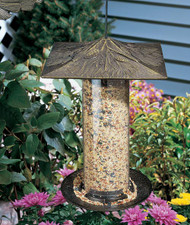 "6"" Pinecone Tube Feeder - French Bronze"