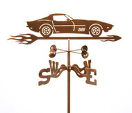 C3 Corvette with Flames Weathervane (68-82)