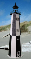 Cape Henry E-Line Stucco Lighthouse 4'