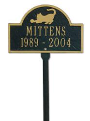 Personalized Cat Memorial Marker