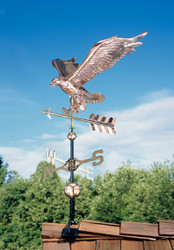 Copper Eagle Weathervane - Polished