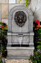 "Classic Lion Face Wall Water Fountain 37"" h"