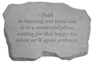 Faith Is Knowing...Memorial Stone