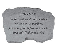 Family Member No Farewell Words Memorial Stone