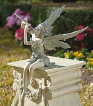 "Fairy of the West Wind Sitting Statue 19""H"
