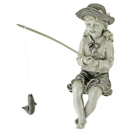 "Fishing Girl Statue 11""H"
