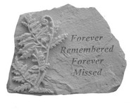 Forever Remembered...w/Fern Memorial Stone