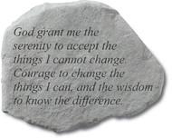 God Grant Me The Serenity Garden Stone