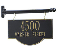 Hanging 2-Sided Arch Address Plaque (2 Lines)