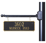 Hanging 2-Sided Rectangle Address Plaque (2 Lines)