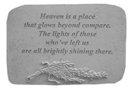 Heaven Is A Place..w/Rosemary Memorial Stone