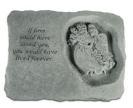 If Love Could Have Saved You Memorial Stone w/ Angel