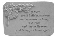 If Tears Could Build...w/Bird Nest Memorial Stone