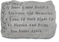 If Tears w/ Shamrocks Memorial Stone