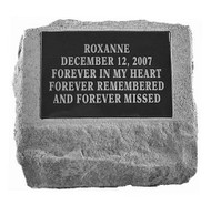 Personalized Memorial Stone with Urn