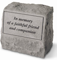 Faithful Friend Memorial Stone with Urn