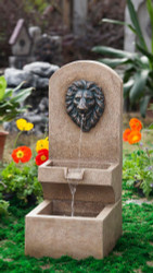 "Lion Head Tier Fountain 31""H"