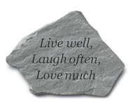 Live Well, Laugh Often Garden Stone