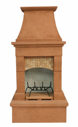 Midsize Freestanding Outdoor Fireplace (Desert Tan)