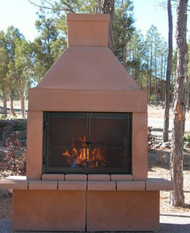 Mirage Stone Outdoor Woodburning Fireplace (Sandstone)