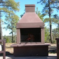 Mirage Stone Outdoor Woodburning Fireplace (Taupe)