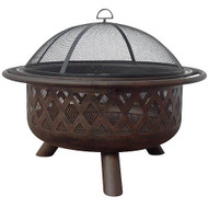 Oil Rubbed Bronze Fire Bowl (Criss-Cross)