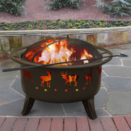 Patio Lights Deer Firepit (Metalic Brown)