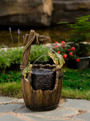 """Pot and Frog Fountain 22""""H"""