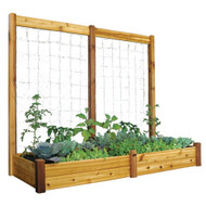 Raised Bed With Trellis 34x95x80 Safe Finish