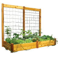Raised Bed With Trellis 48x95x80 Safe Finish