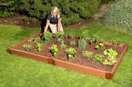 "Tool-Free Classic Raised Garden Bed 4' x 8' x 5.5"" (2"" profile) Sienna"