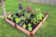 "Tool-Free Classic Raised Garden Bed  8' x 8' x 11""  (2"" profile) Sienna"