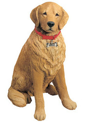 "Sandicast Golden Retriever Statue (28""H)"
