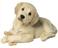 """Sandicast Yellow Labrador Retriever Pup Statue (9""""H)"""