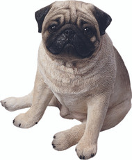 "Sandicast Pug Statue (14""H) (Fawn)"