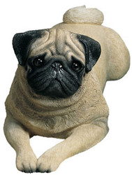 "Sandicast Pug Statue (8""H) (Fawn)"