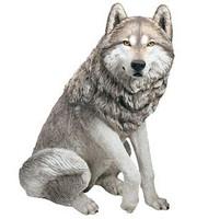 "Sandicast Wolf Statue (27""H)"