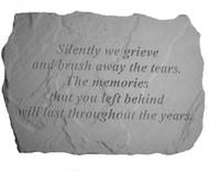 Silently We Grieve Memorial Stone