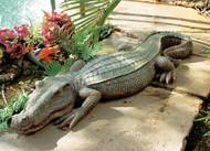 "Swamp Beast Crocodile Garden Statue 37"""