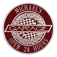 "Victory Lane Garage Plaque 12""Diameter (2 Lines)"