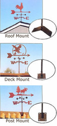 Garden Weathervane Mount Options