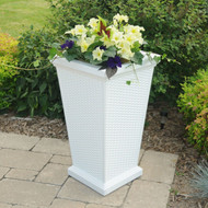 "Mayne Wellington Tall Planter 28""H"
