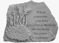 When Someone You Love..w/Lavender Memorial Stone